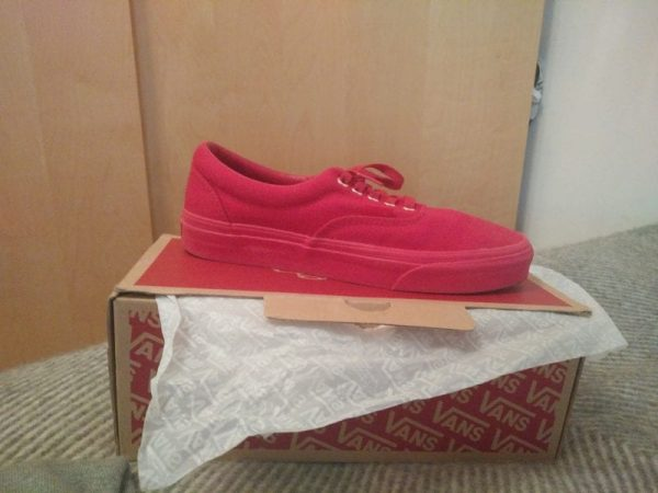 Red Vans UK Size 7