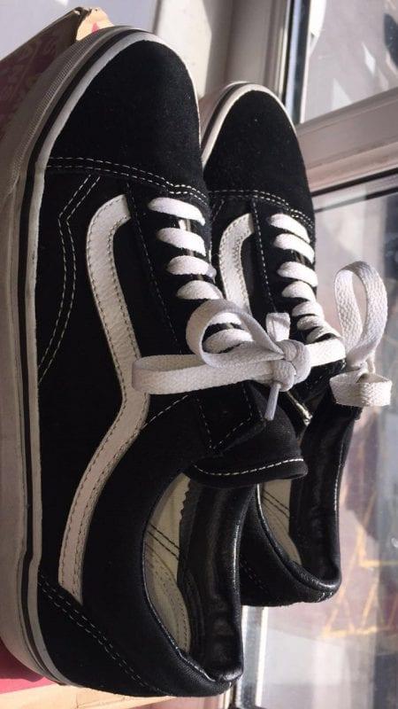 UK Size 7-7.5 Old Skool Vans Black/White