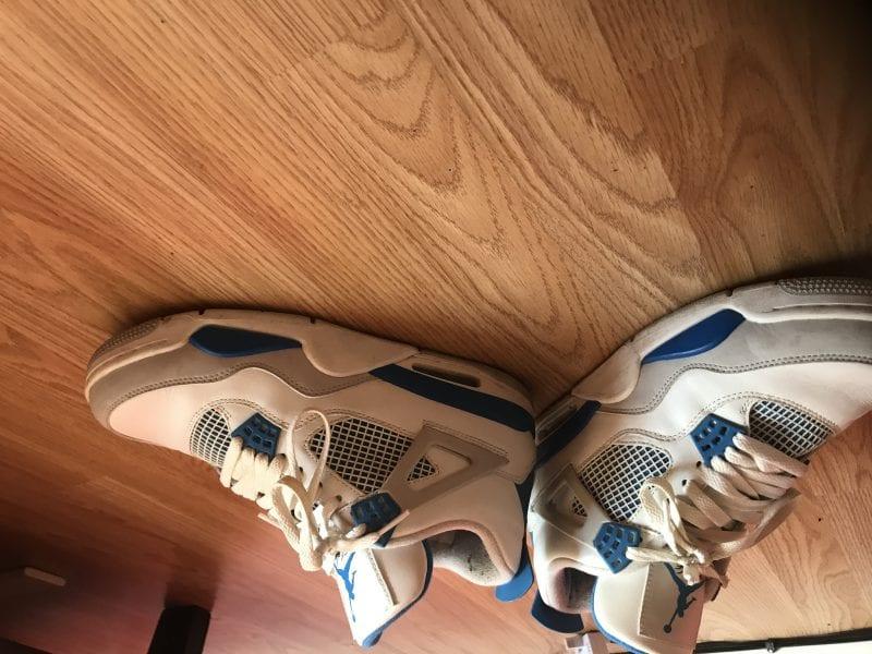 Jordan Retro 4s military blue