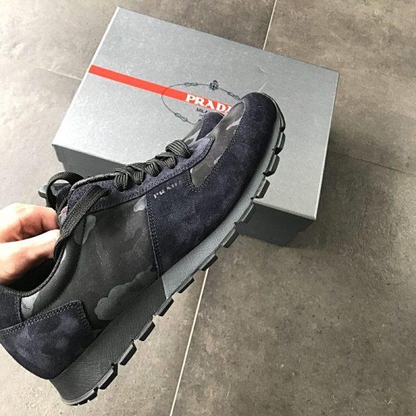 Prada blue camo Runners - Calzature Uomo