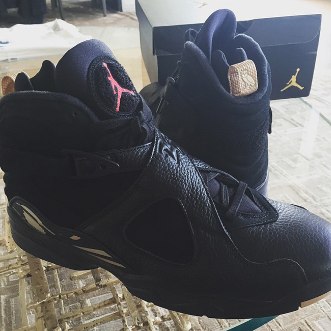 OVO Air Jordan 8 Retro Black/Gold