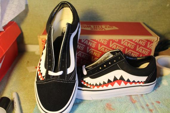 Bape Teeth Custom Vans