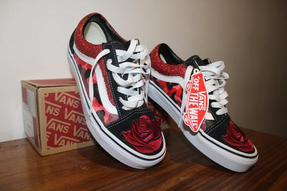Rose And Magma Camo Vans