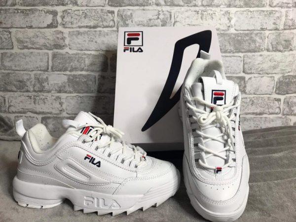 Fila Disruptor II Trainers White Leather