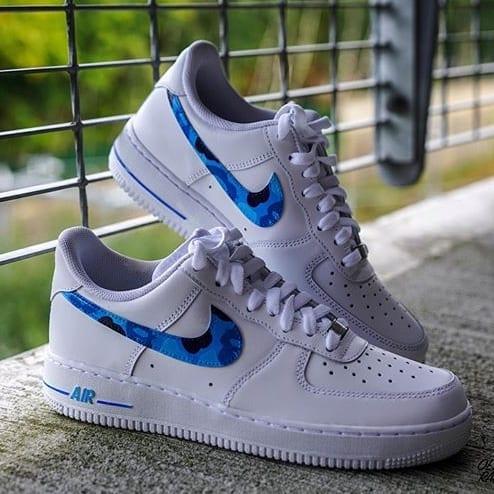 Blue BAPE Air force 1