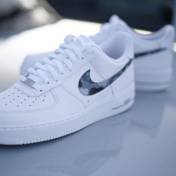 Monochrome BAPE Air force 1