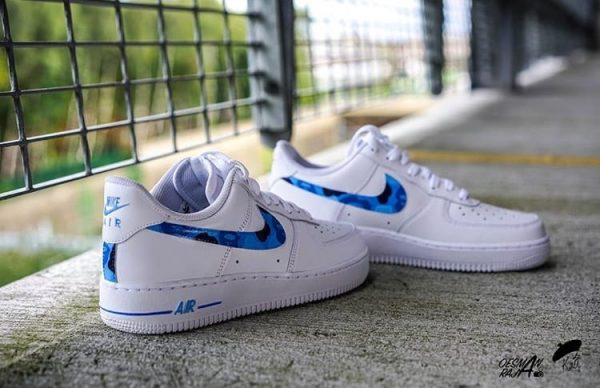 Blue BAPE Air force 1