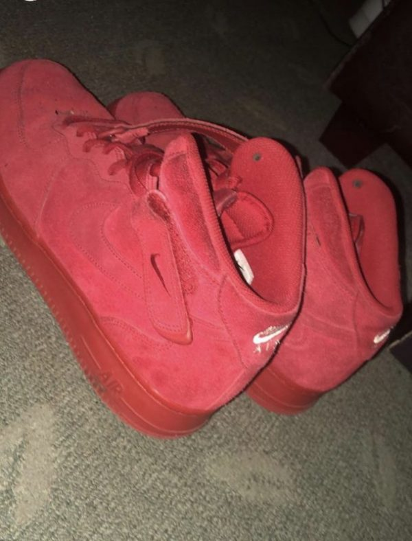 Tripple Red Suede Nike Air Force 1