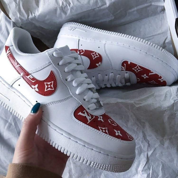 Nike Red & White LV