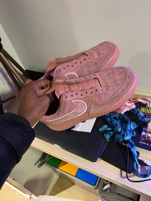 Nike Pink Air Force 1 07 Lv8 Suede