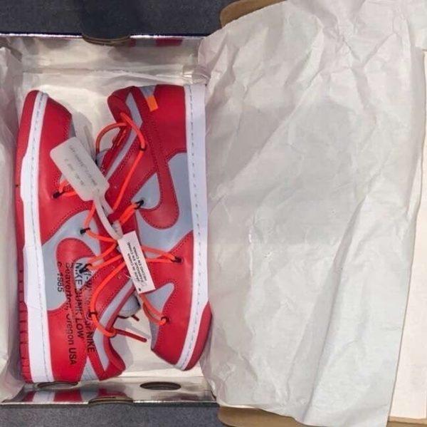 Nike Dunk Low 'Off-White University Red' UK 7