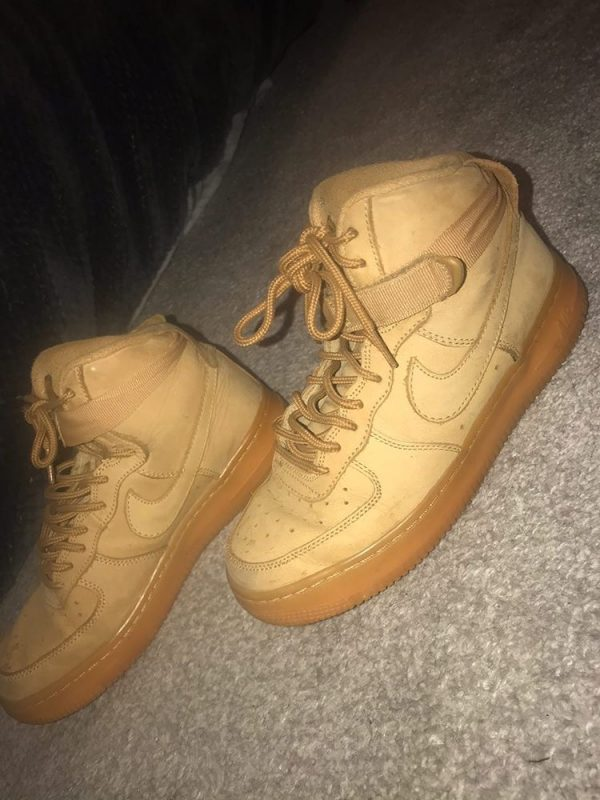Tan High Top Air Force