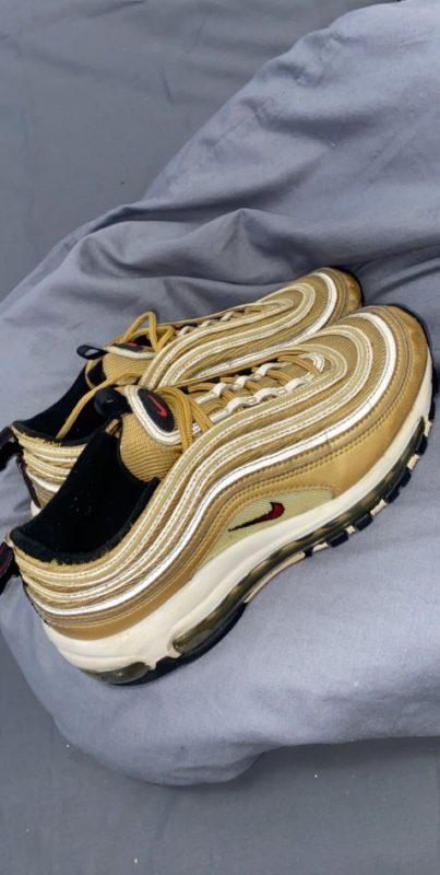Nike Gold Bullet 97s