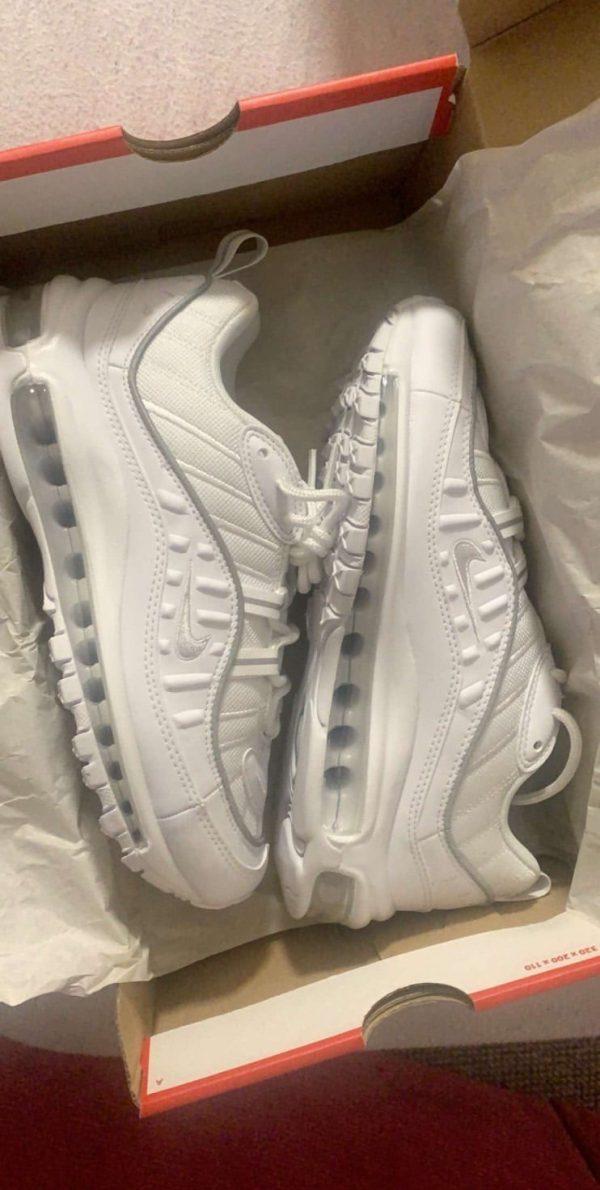 White Nike Air Max 98