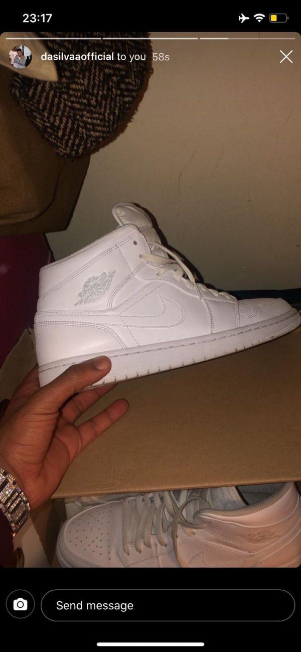 White Jordan 1 High Top (SIZE 11)
