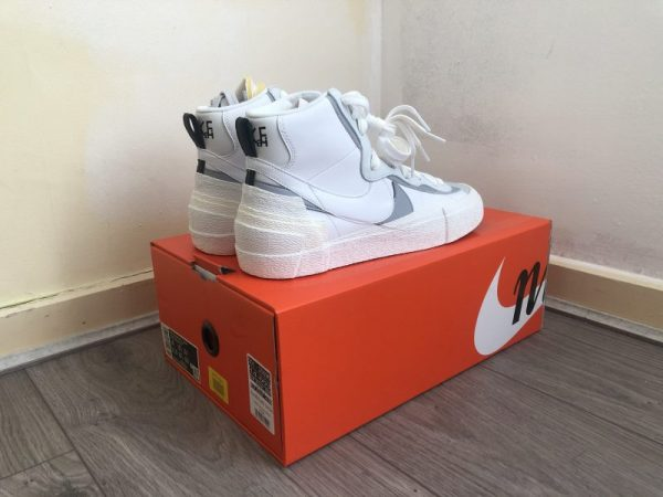 Nike X Sacai Blazer Mid White/Grey - UK9 - US10 - EU44