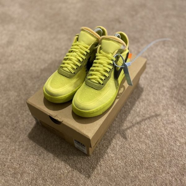 Nike x Off White Airforce 1 Volt 'The Ten'