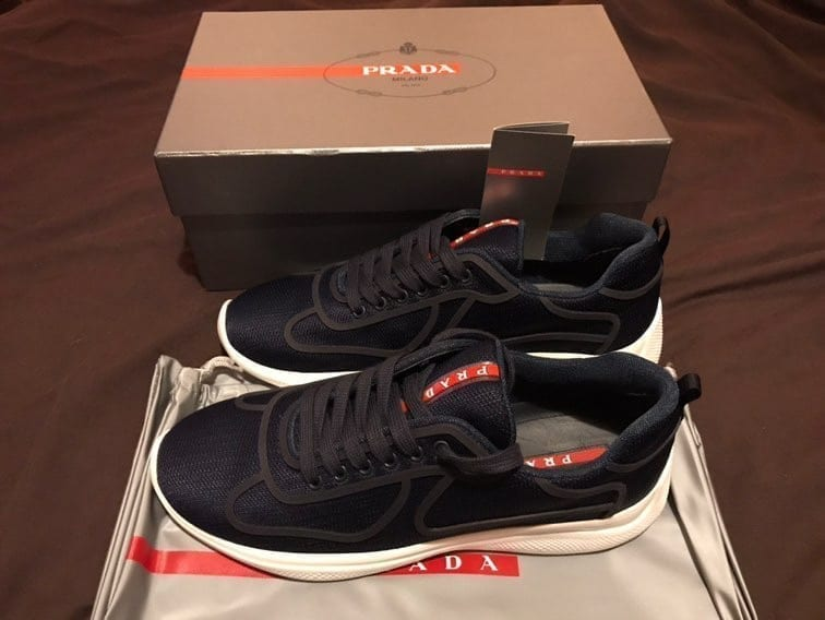 Prada Cups Bike Fabric Sneakers
