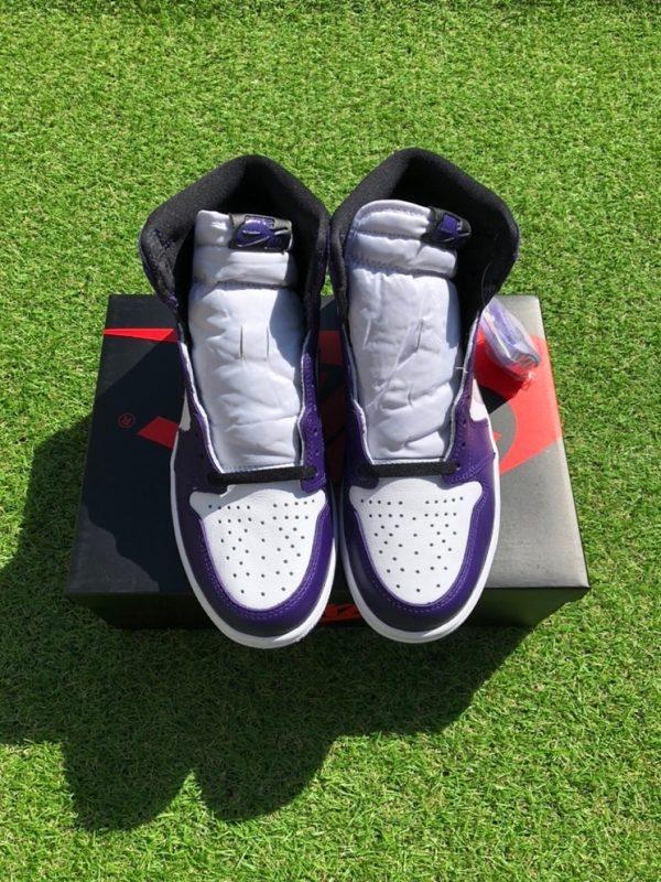 Jordan 1 Retro High Court Purple White UK 7