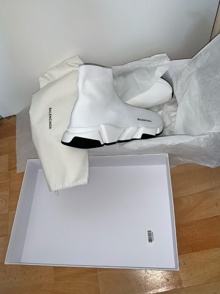 Balenciaga Speed Sock White UK 8