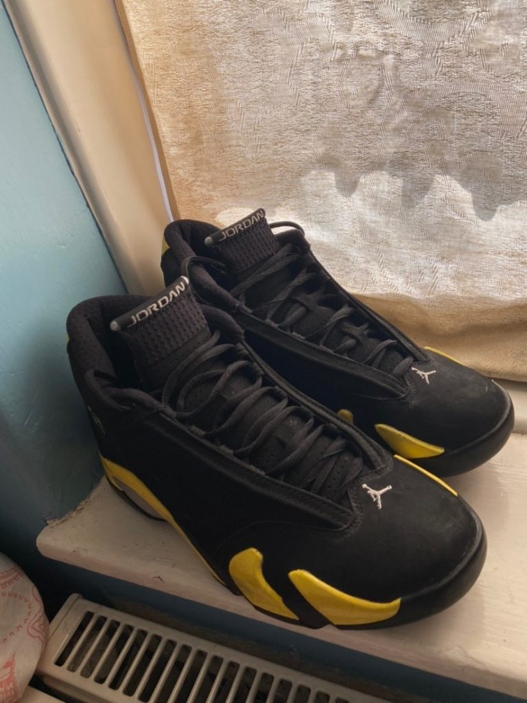 "AIR JORDAN 14 RETRO ""THUNDER"" UK 8"
