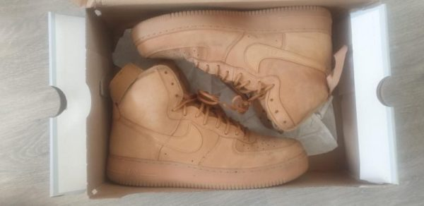 Wheat/Gum Light Hi Top Airforces UK 11