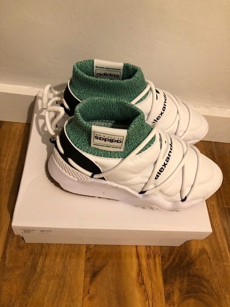 Alexander Wang X Adidas White/Green puff UK 4