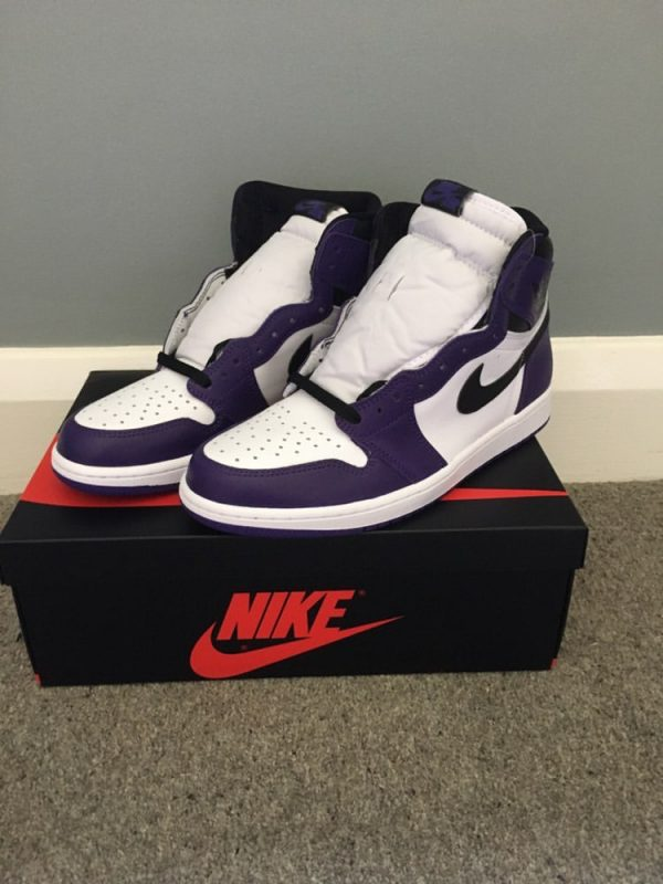 Air Jordan 1's Court Purple UK 9