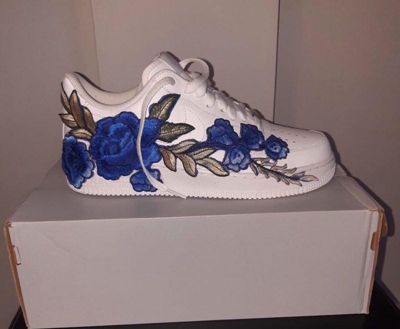 Nike Air Force 1 Floral Blue Flower Bomb