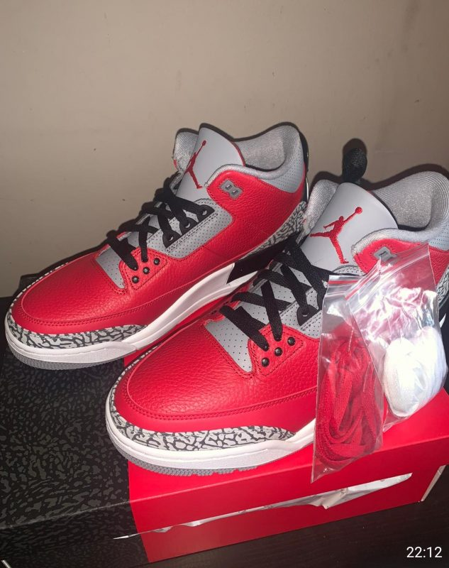 Air Jordan 3 Retro SE UK 11 Fire Red