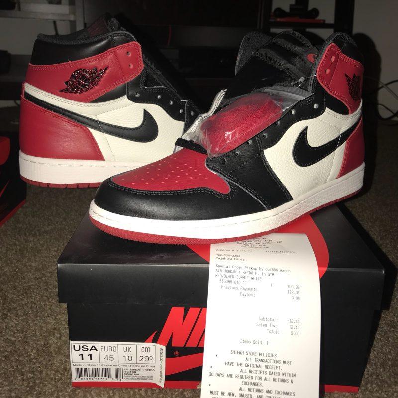 Jordan 1 'Bred Toe'