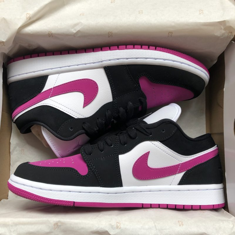 "Nike Air Jordan 1 Low Fuchsia Toe ""Black-White Pink"""