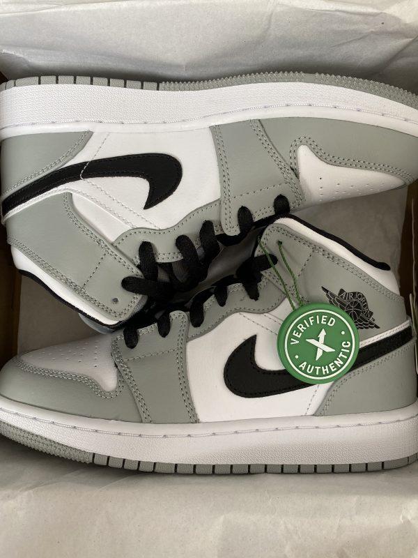 Nike Air Jordan 1 Mid Light Smoke Grey White