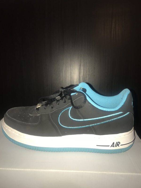 Nike Air Force 1 | Black x Turquoise Blue | Low