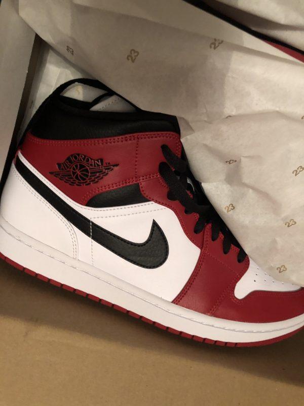 Jordan 1 Mid White Heel