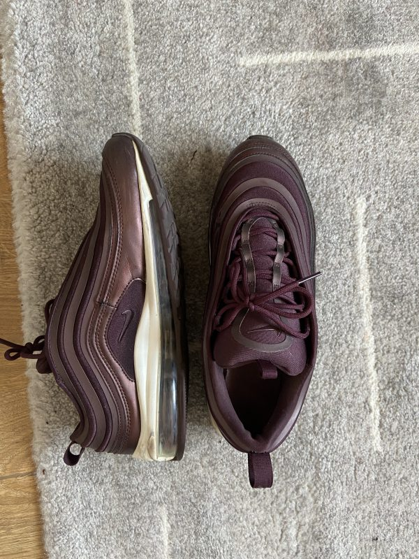Nike air max 97 burgundy women's trainers with leather