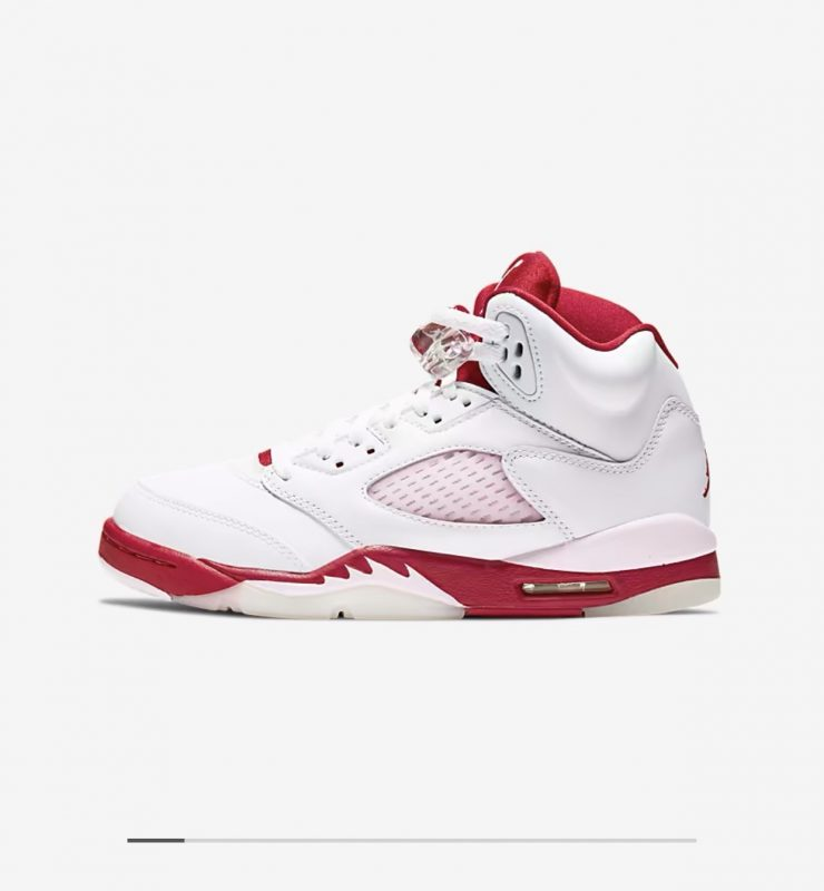 Jordan 5 retro GS white/pink foam/gym red