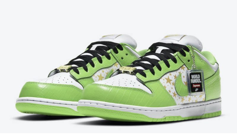 Supreme x Nike low dunk 'mean green'