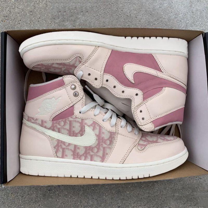 Pink Dior Jordan 1 custom